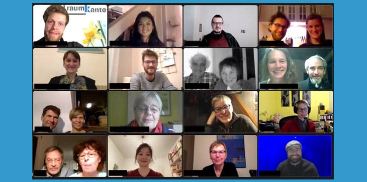 Screenshot der Video-Konferenz